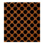 CIRCLES2 BLACK MARBLE & RUSTED METAL Shower Curtain 66  x 72  (Large)  58.75 x64.8 Curtain