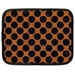 CIRCLES2 BLACK MARBLE & RUSTED METAL Netbook Case (XL)  Front