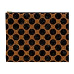 CIRCLES2 BLACK MARBLE & RUSTED METAL Cosmetic Bag (XL) Front