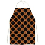 CIRCLES2 BLACK MARBLE & RUSTED METAL Full Print Aprons Front