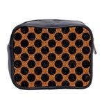 CIRCLES2 BLACK MARBLE & RUSTED METAL Mini Toiletries Bag 2-Side Back