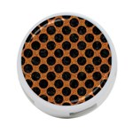 CIRCLES2 BLACK MARBLE & RUSTED METAL 4-Port USB Hub (Two Sides)  Front