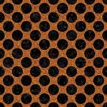 CIRCLES2 BLACK MARBLE & RUSTED METAL Magic Photo Cubes Side 1