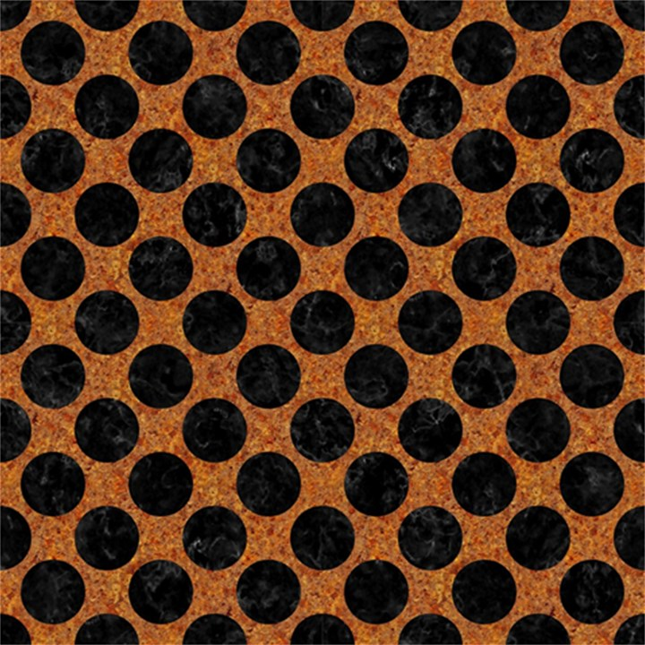 CIRCLES2 BLACK MARBLE & RUSTED METAL Magic Photo Cubes
