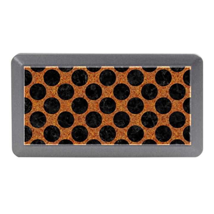 CIRCLES2 BLACK MARBLE & RUSTED METAL Memory Card Reader (Mini)