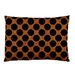 CIRCLES2 BLACK MARBLE & RUSTED METAL Pillow Case (Two Sides) Back