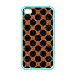 Circles2 Black Marble & Rusted Metal Apple Iphone 4 Case (color)