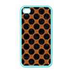 CIRCLES2 BLACK MARBLE & RUSTED METAL Apple iPhone 4 Case (Color) Front