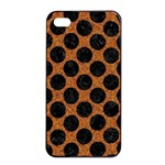 CIRCLES2 BLACK MARBLE & RUSTED METAL Apple iPhone 4/4s Seamless Case (Black) Front