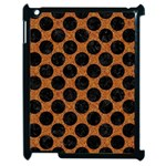CIRCLES2 BLACK MARBLE & RUSTED METAL Apple iPad 2 Case (Black) Front