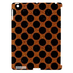 Circles2 Black Marble & Rusted Metal Apple Ipad 3/4 Hardshell Case (compatible With Smart Cover)