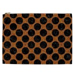 CIRCLES2 BLACK MARBLE & RUSTED METAL Cosmetic Bag (XXL)  Front