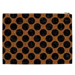 CIRCLES2 BLACK MARBLE & RUSTED METAL Cosmetic Bag (XXL)  Back