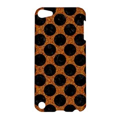 Circles2 Black Marble & Rusted Metal Apple Ipod Touch 5 Hardshell Case