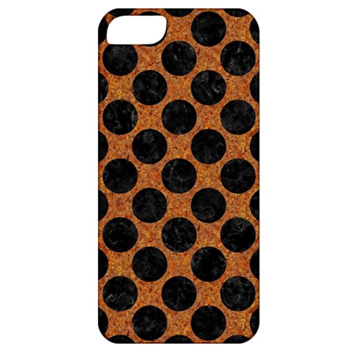 CIRCLES2 BLACK MARBLE & RUSTED METAL Apple iPhone 5 Classic Hardshell Case