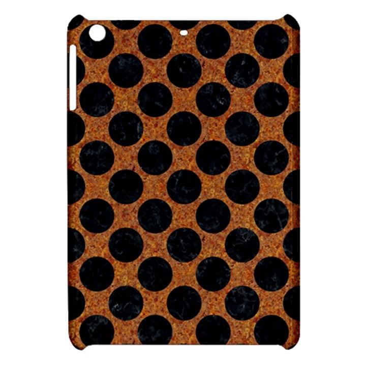 CIRCLES2 BLACK MARBLE & RUSTED METAL Apple iPad Mini Hardshell Case