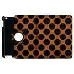 CIRCLES2 BLACK MARBLE & RUSTED METAL Apple iPad 3/4 Flip 360 Case Front