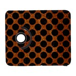 CIRCLES2 BLACK MARBLE & RUSTED METAL Galaxy S3 (Flip/Folio) Front