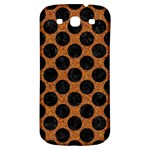 CIRCLES2 BLACK MARBLE & RUSTED METAL Samsung Galaxy S3 S III Classic Hardshell Back Case Front