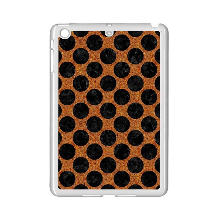 CIRCLES2 BLACK MARBLE & RUSTED METAL iPad Mini 2 Enamel Coated Cases