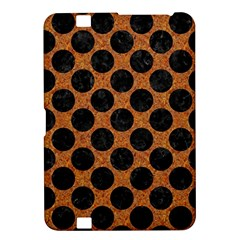 Circles2 Black Marble & Rusted Metal Kindle Fire Hd 8 9