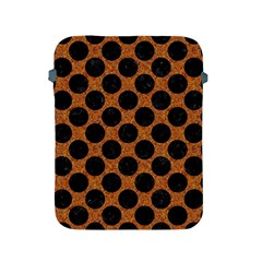 Circles2 Black Marble & Rusted Metal Apple Ipad 2/3/4 Protective Soft Cases
