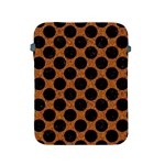 CIRCLES2 BLACK MARBLE & RUSTED METAL Apple iPad 2/3/4 Protective Soft Cases Front