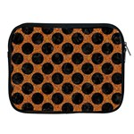 CIRCLES2 BLACK MARBLE & RUSTED METAL Apple iPad 2/3/4 Zipper Cases Front