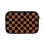 CIRCLES2 BLACK MARBLE & RUSTED METAL Apple iPad Mini Zipper Cases Front