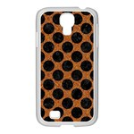CIRCLES2 BLACK MARBLE & RUSTED METAL Samsung GALAXY S4 I9500/ I9505 Case (White) Front