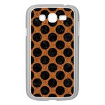 CIRCLES2 BLACK MARBLE & RUSTED METAL Samsung Galaxy Grand DUOS I9082 Case (White) Front