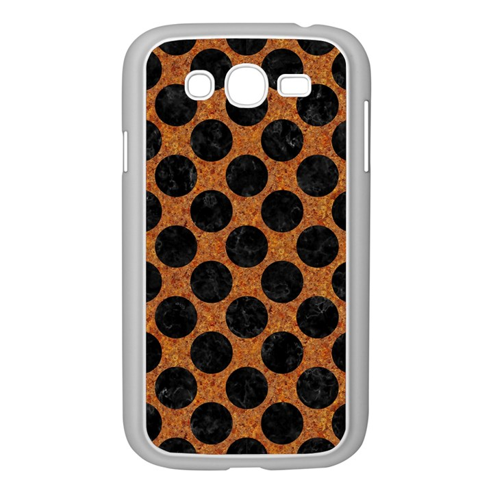 CIRCLES2 BLACK MARBLE & RUSTED METAL Samsung Galaxy Grand DUOS I9082 Case (White)