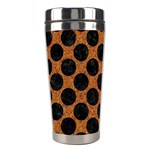 CIRCLES2 BLACK MARBLE & RUSTED METAL Stainless Steel Travel Tumblers Left