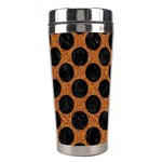 CIRCLES2 BLACK MARBLE & RUSTED METAL Stainless Steel Travel Tumblers Center