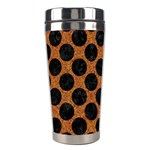 CIRCLES2 BLACK MARBLE & RUSTED METAL Stainless Steel Travel Tumblers Right
