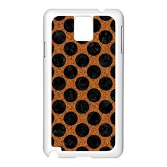 Circles2 Black Marble & Rusted Metal Samsung Galaxy Note 3 N9005 Case (white)