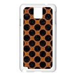 CIRCLES2 BLACK MARBLE & RUSTED METAL Samsung Galaxy Note 3 N9005 Case (White) Front
