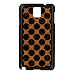 CIRCLES2 BLACK MARBLE & RUSTED METAL Samsung Galaxy Note 3 N9005 Case (Black) Front