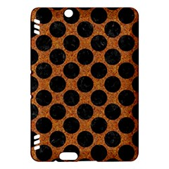 Circles2 Black Marble & Rusted Metal Kindle Fire Hdx Hardshell Case