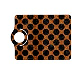 CIRCLES2 BLACK MARBLE & RUSTED METAL Kindle Fire HD (2013) Flip 360 Case Front
