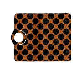 Circles2 Black Marble & Rusted Metal Kindle Fire Hdx 8 9  Flip 360 Case