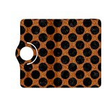 CIRCLES2 BLACK MARBLE & RUSTED METAL Kindle Fire HDX 8.9  Flip 360 Case Front
