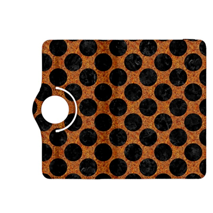 CIRCLES2 BLACK MARBLE & RUSTED METAL Kindle Fire HDX 8.9  Flip 360 Case