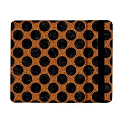 Circles2 Black Marble & Rusted Metal Samsung Galaxy Tab Pro 8 4  Flip Case