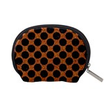 CIRCLES2 BLACK MARBLE & RUSTED METAL Accessory Pouches (Small)  Back