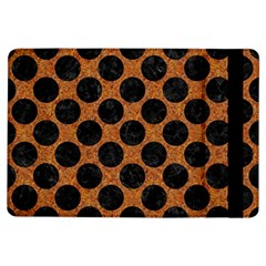 Circles2 Black Marble & Rusted Metal Ipad Air Flip