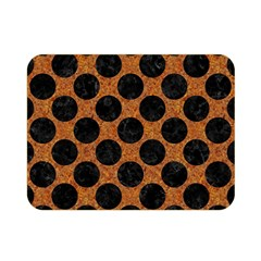 Circles2 Black Marble & Rusted Metal Double Sided Flano Blanket (mini)