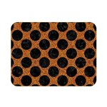 CIRCLES2 BLACK MARBLE & RUSTED METAL Double Sided Flano Blanket (Mini)  35 x27 Blanket Back