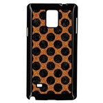 CIRCLES2 BLACK MARBLE & RUSTED METAL Samsung Galaxy Note 4 Case (Black) Front