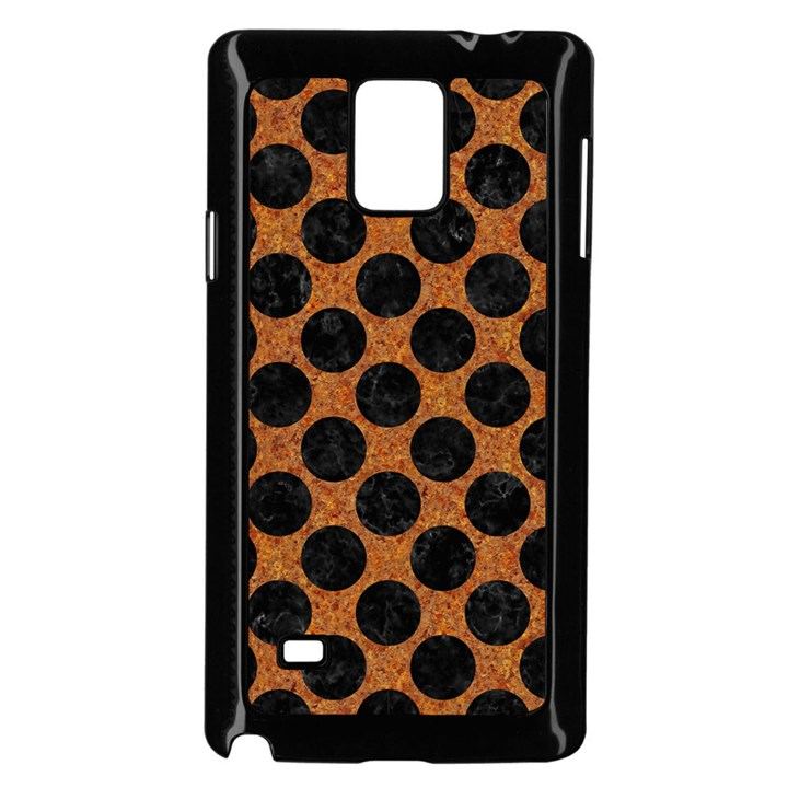 CIRCLES2 BLACK MARBLE & RUSTED METAL Samsung Galaxy Note 4 Case (Black)
